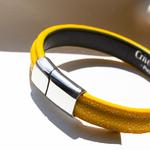 Crivellaro-Bracelets-galuchat-jaune-3