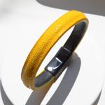 Crivellaro-Bracelets-galuchat-jaune