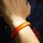 Crivellaro-Bracelets-croco-orange-poignet