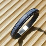 Crivellaro-Bracelet-Python-Jeans-Fermoir-ArgentBrosse-2