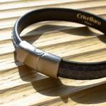 Crivellaro-Bracelet-Python-Jeans-Fermoir-ArgentBrosse