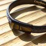 Crivellaro-Bracelet-Python-Jeans-Fermoir-Noir