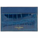 Crivellaro-portes-cartes-SLIM-Croco-Bleu-lagoon-1