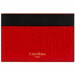 Crivellaro-portes-cartes-SLIM-Autruche-Rouge-Noir-1