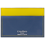Crivellaro-Porte-carte-slim-chevre-bleu-marine-jaune-1