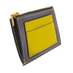 Crivellaro Porte monnaie chevre Bleu jaune