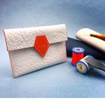 Crivellaro Pochette Passeport Blanc Orange