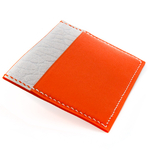 Crivellaro Porte carte slim-bubble blanc cuir orange