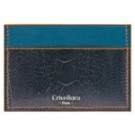 Crivellaro-Porte-carte-autruche-bleu-orange-1