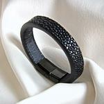 Crivellaro-Bracelet-galuchat-noir--3
