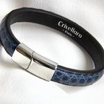 Crivellaro-Bracelet-croco-bleu-1