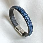 Crivellaro-Bracelet-croco-bleu-2