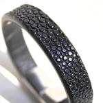 Crivellaro-Bracelet-galuchat-noir-Argent-1