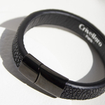Crivellaro-Bracelet-galuchat-noir-Noir-1