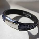 Crivellaro-Bracelet-Python-Bleu-Homme-4