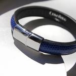Crivellaro-Bracelet-lezard-bleu-electrique-4