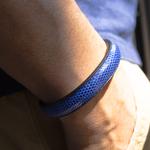 Crivellaro-Bracelet-lezard-bleu-electrique-5