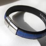 Crivellaro-Bracelet-Croco-Bleu-Homme-4