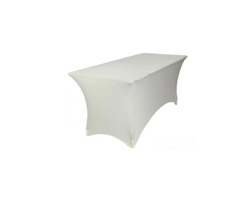 Housse lycra table buffet Blanche