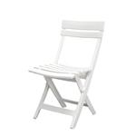 Chaise plastique blanche Square Pliante