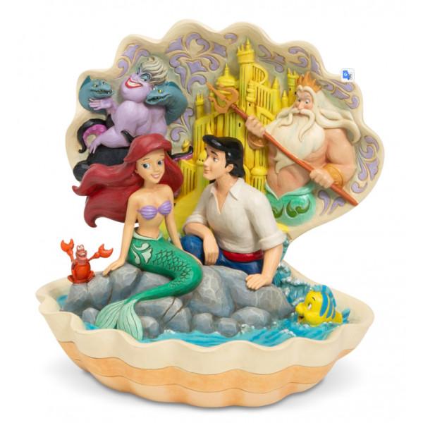 Disney Traditions Ariel et Eric dans le coquillage