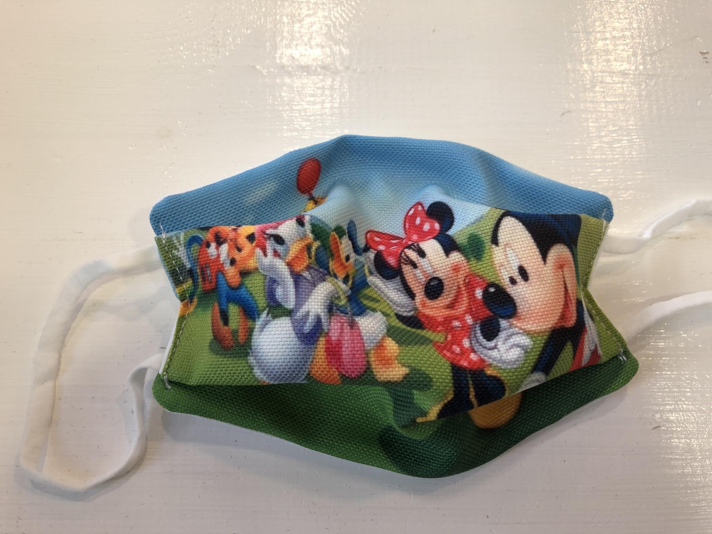 Masque tissu enfant COVID - Mickey friends