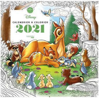 Art thérapie - Disney Calendrier 2021 à colorier