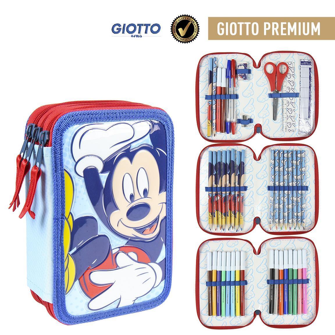 Trousse Premium 3 compartiments Mickey