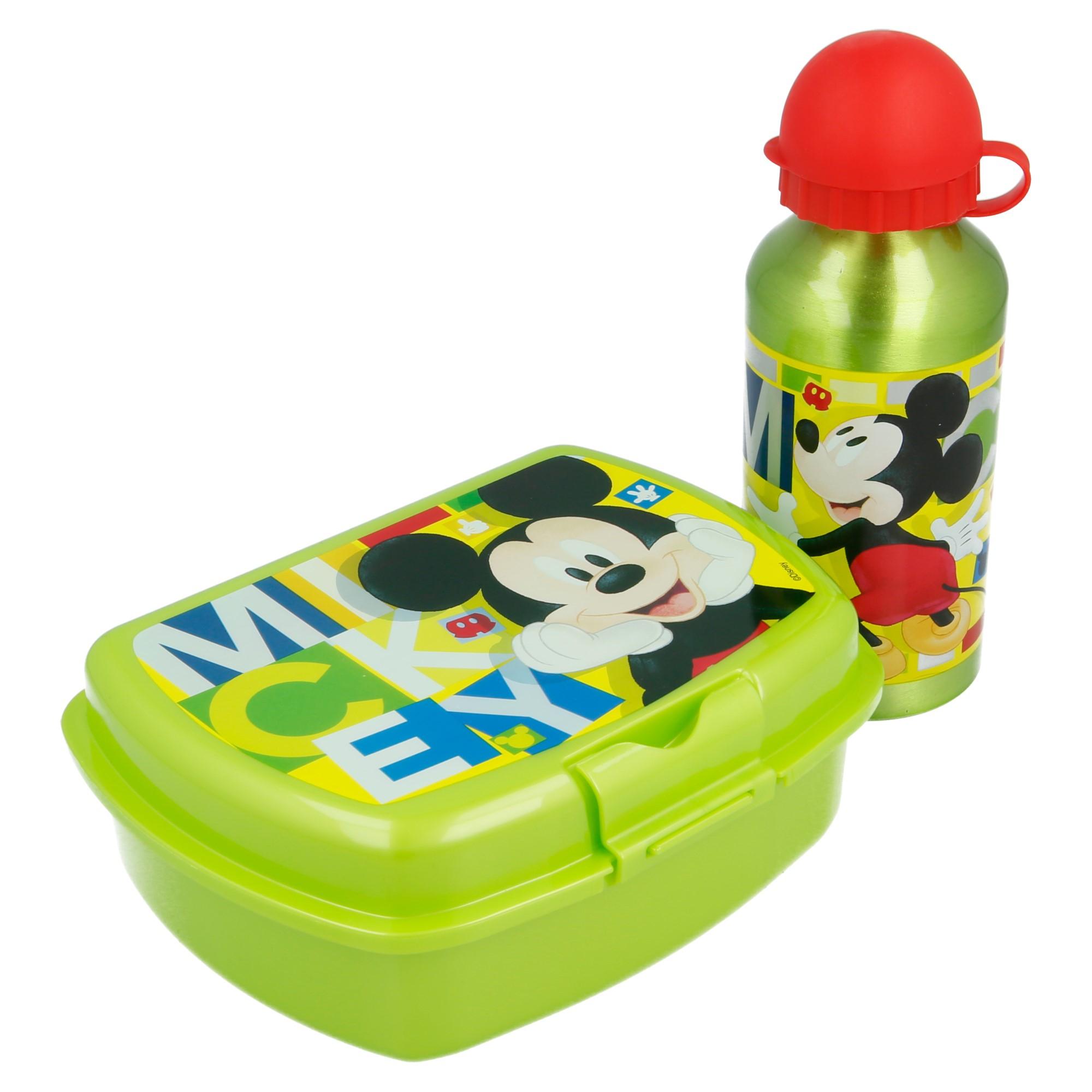 Coffret Boite à Sandwich et gourde Mickey