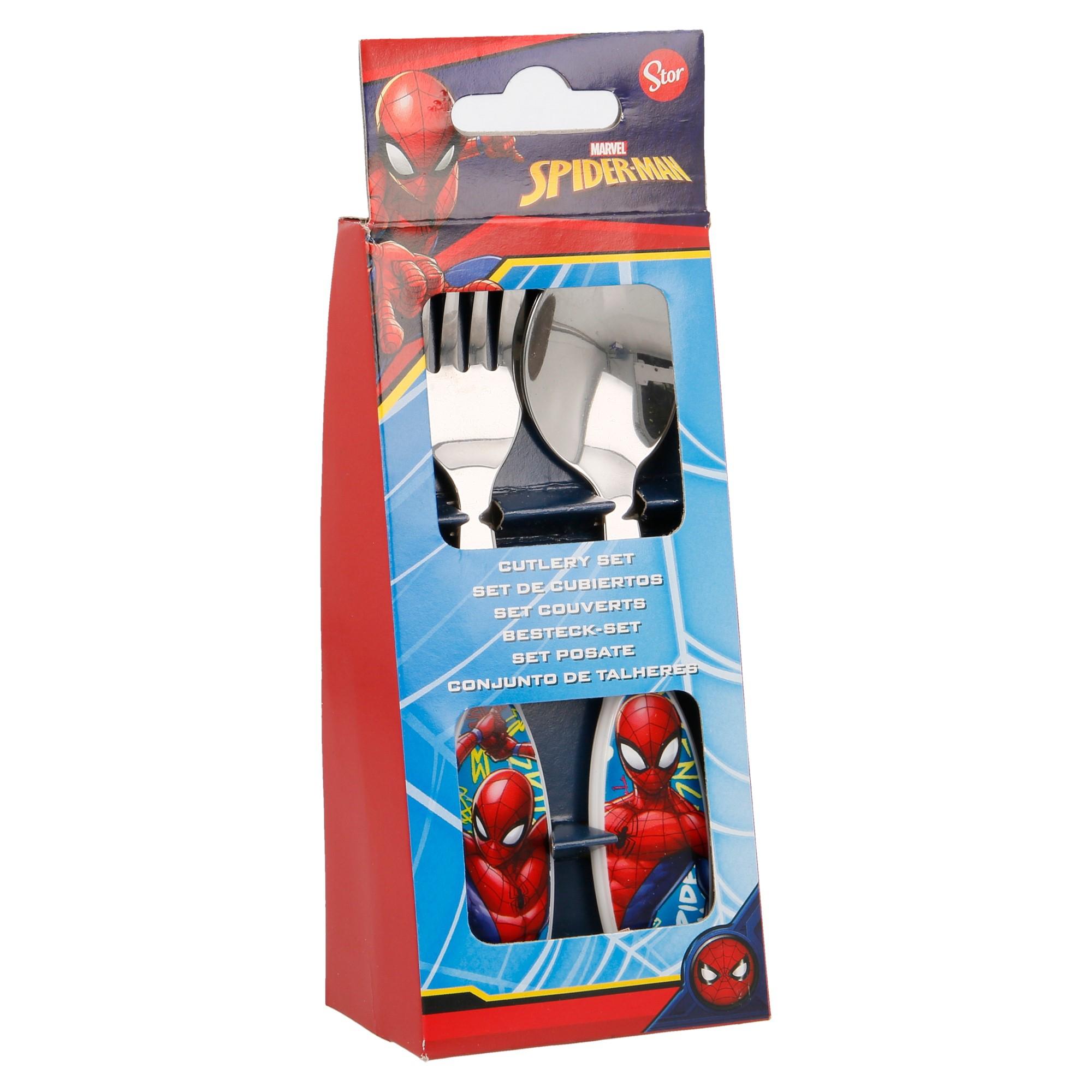 Set de 2 couverts en Métal Spiderman