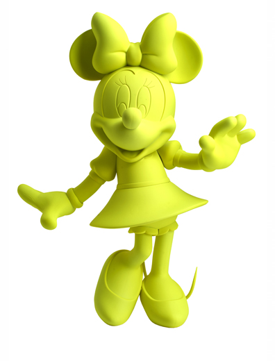 Figurine de collection - Minnie Welcome Neon jaune