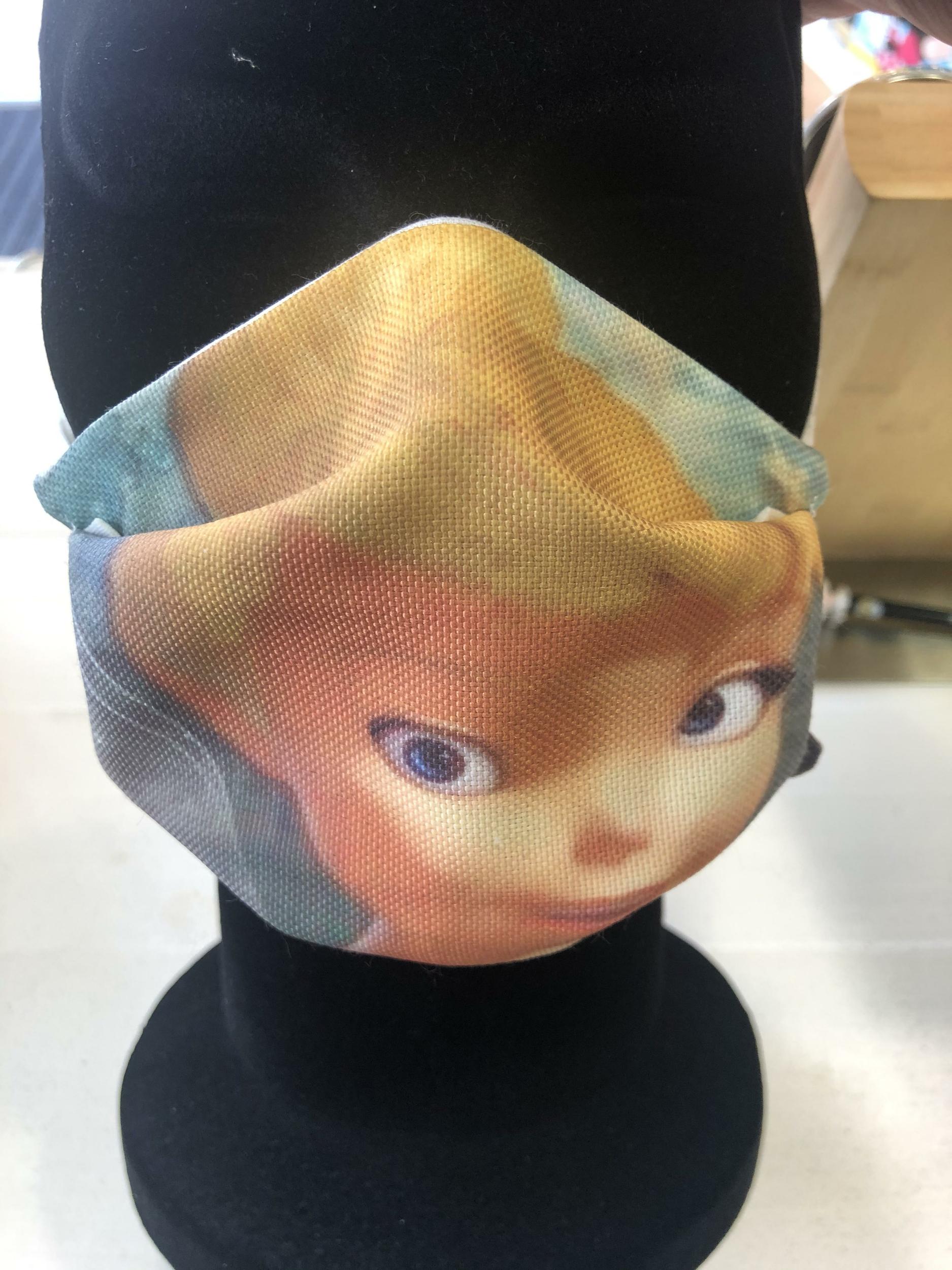 Masque tissu enfant Covid - Fée Clochette