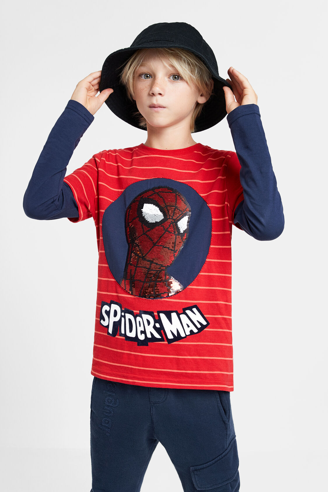 Tee Shirt Spiderman Paillettes réversibles Desigual