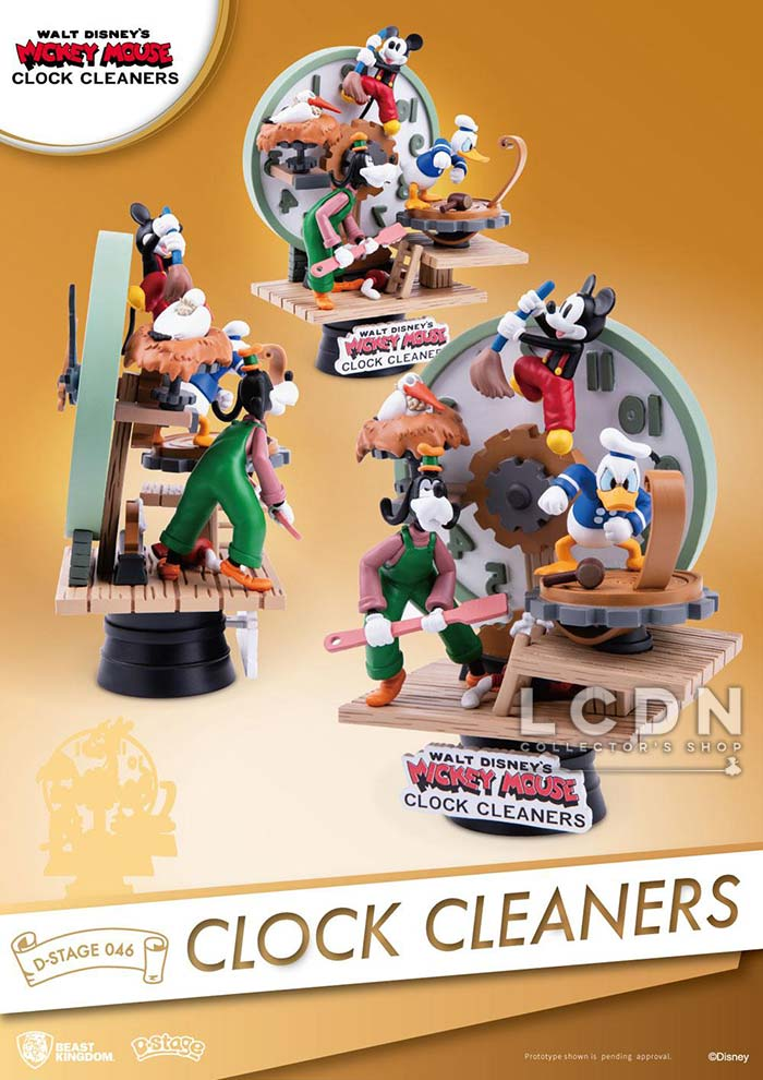 Disney - Diorama Mickey Clock Cleaners