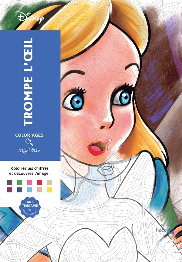 Coloriages Mystères Disney Trompe l\'oeil