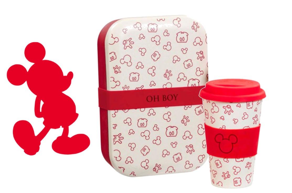 Lot Lunch Box + Mug Mickey Oh Boy
