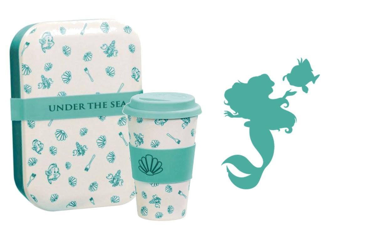 Lot Lunch Box + Mug Ariel Under the sea
