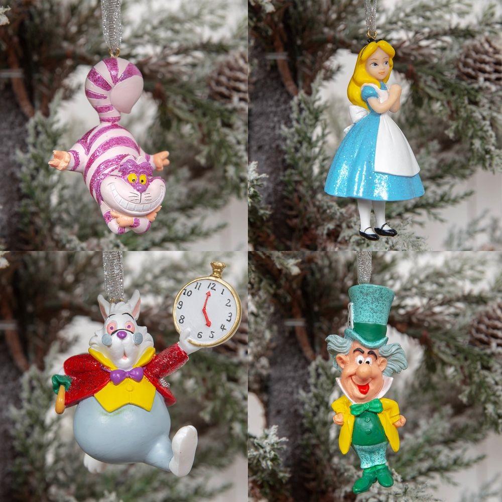 Set de 4 Ornements Alice au pays des Merveilles