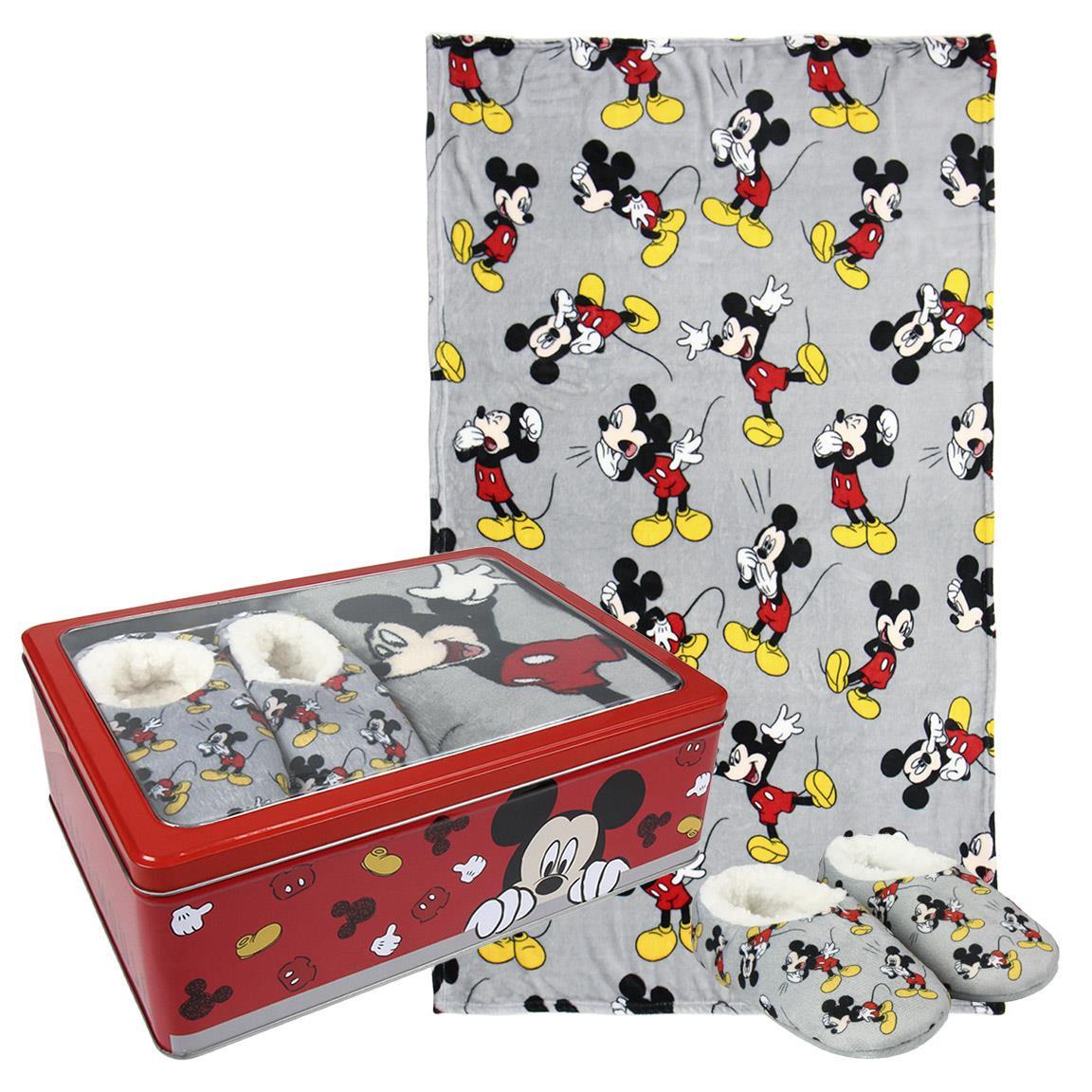 Coffret Plaid + Chaussons Mickey