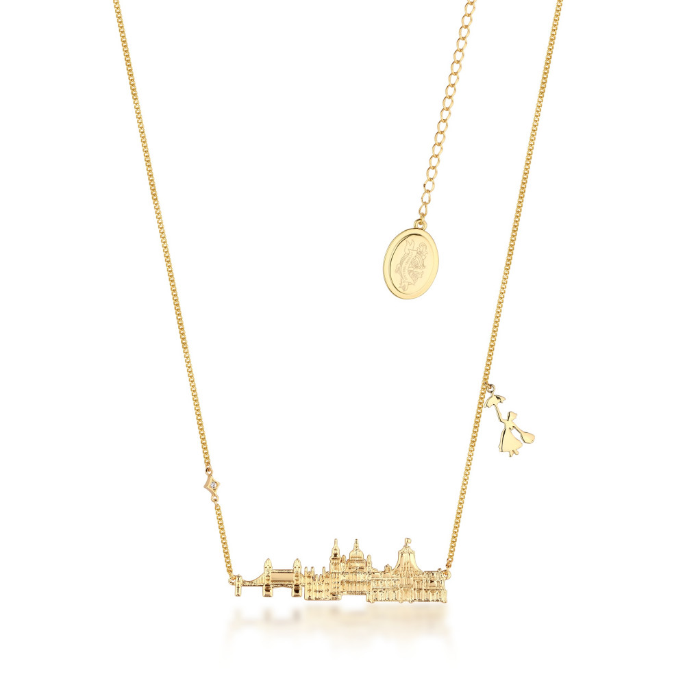 Collier Mary Poppins Toits de Londres - Or jaune