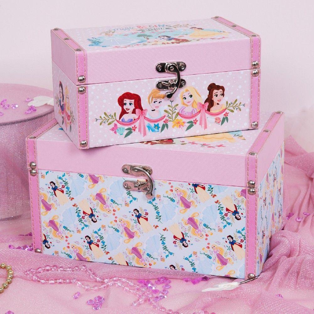 Set de 2 boites de rangement Princesses Disney