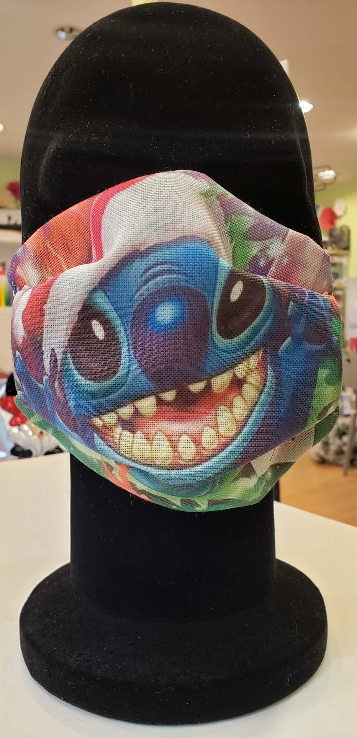 Masque Tissu adulte COVID - Stitch bonnet de Noël