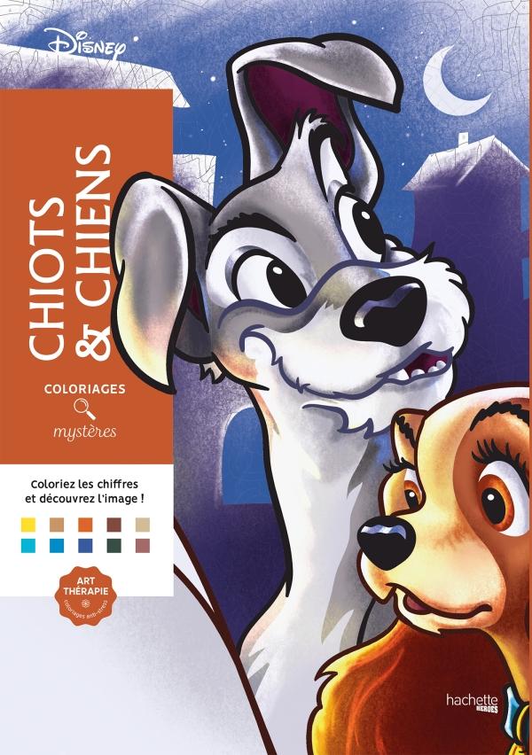 Coloriages Mystères Disney Chiots & Chiens