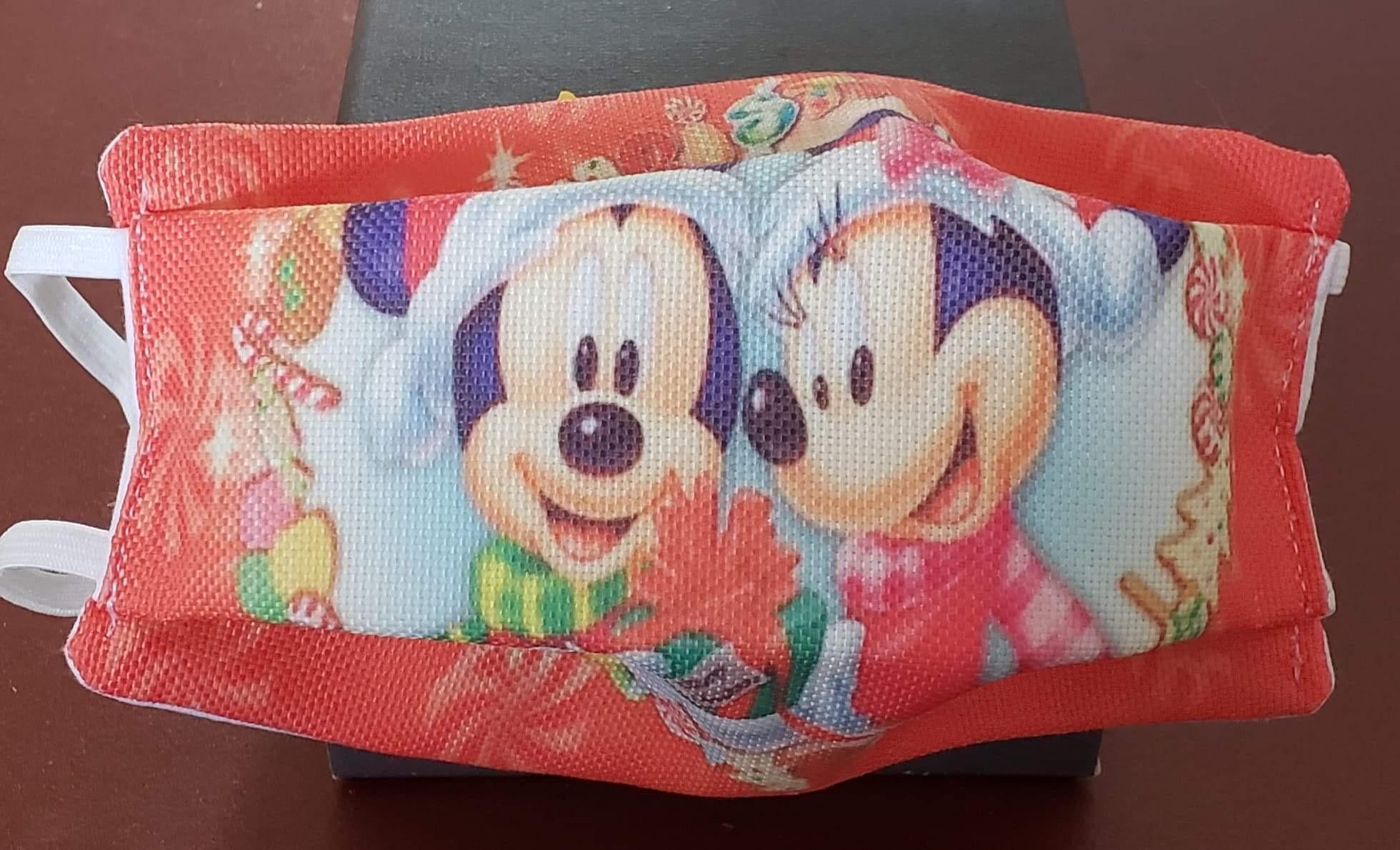 Masque tissu enfant Covid - Mickey Noël