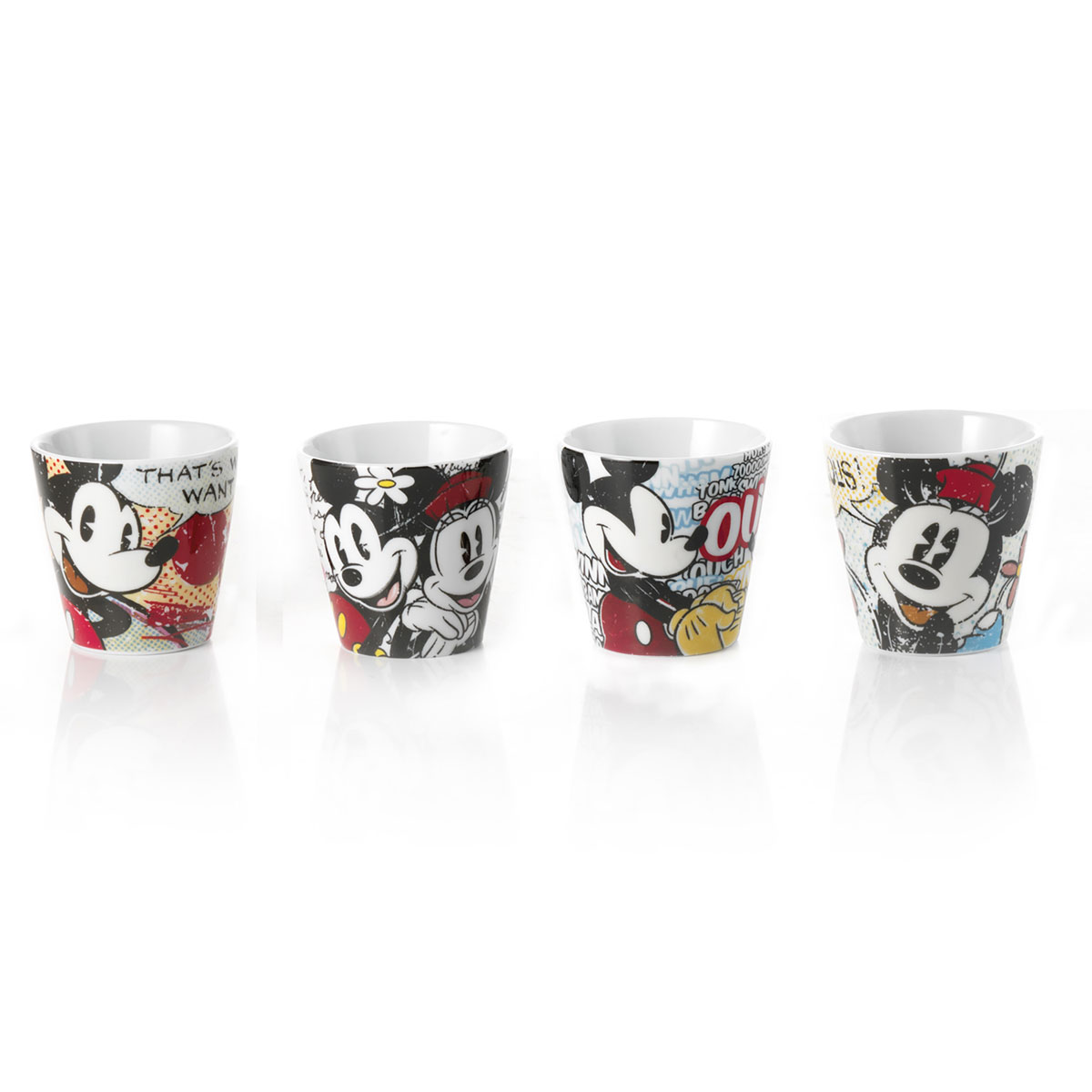 Disney - Set de 4 tasses Expresso Mickey & Minnie