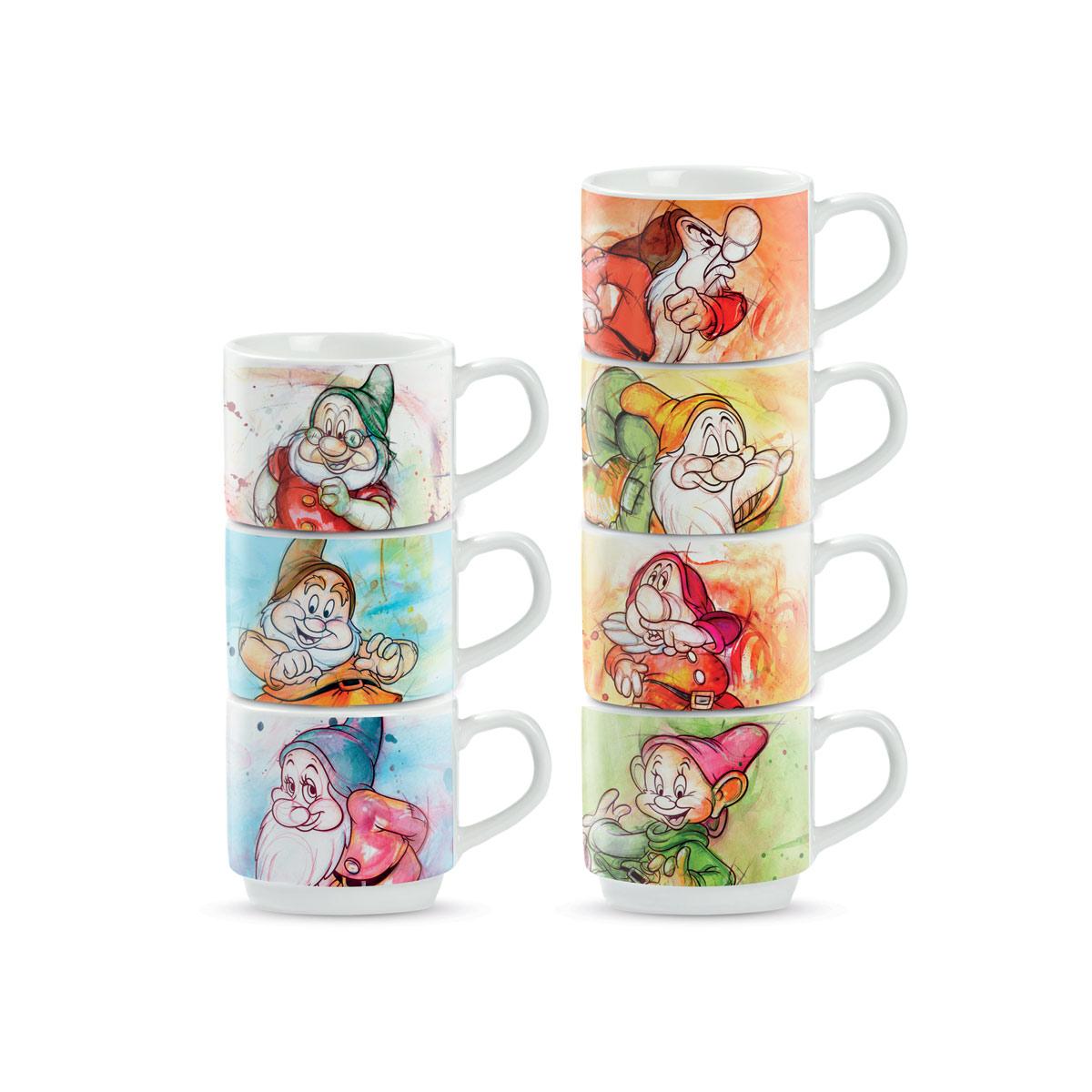Disney - Set de 7 tasses 7 Nains