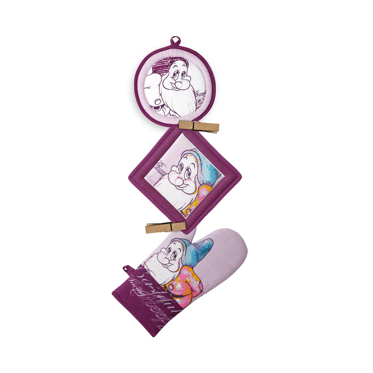 Disney - Set 3 pièces - gants à four Timide