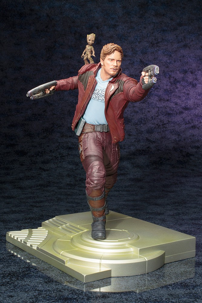 Statuette Les Gardiens de la Galaxie ARTFX Star Lord with Groot 32cm