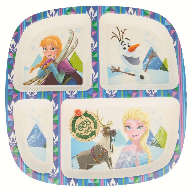 Assiette compartimentée Reine des Neiges
