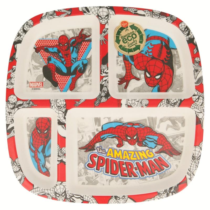 Assiette compartimentée Spiderman